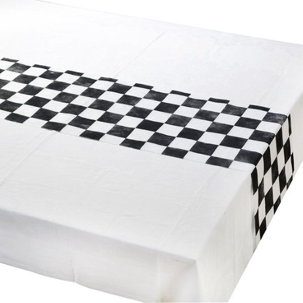 Mad Hatter Party Runner  Alice in Wonderland Birthday Party   Checkered Table Runner