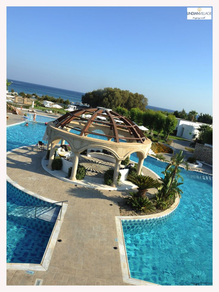 Enjoy a day by the pool, overlooking the grandiose Dome and the Rhodian sky! More at lindianvillage.gr/Hotel_Photo_Gallery/