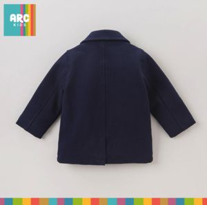 From our Fine Collection. This beautiful Navy Double Breasted Wool Coat for boys is wonderfully warm and stylish. From 18 months to 7 years.