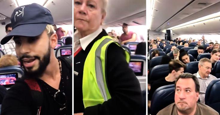 Adam Saleh, un youtuber reconocido, estaba hablando por teléfono con su madre, en árabe, por lo que le pidieron que bajara del avión en que viajaría