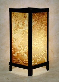 I've always loved these Lithophane Lamps - especially the Waterfall & Woodland designs.