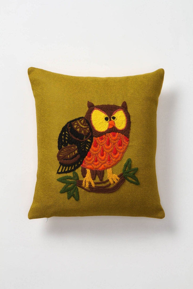 Amazing Tufted Owl Pillow