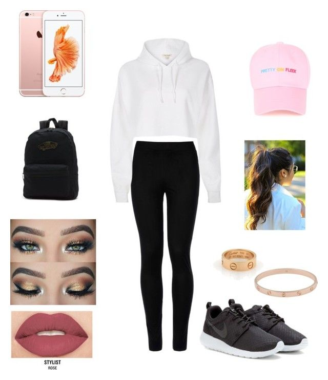 """"" by tumblrcake on Polyvore featuring Wolford, River Island, NIKE, Cartier, Vans and Smashbox"