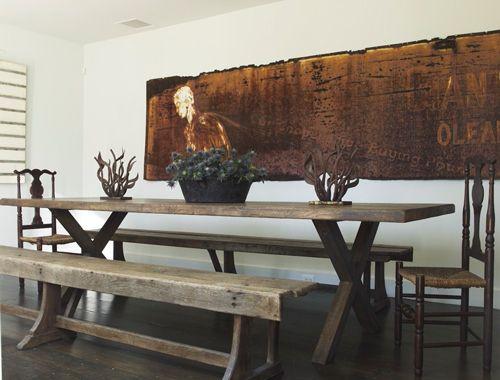 best 20+ wooden trestle table ideas on pinterest | rustic table