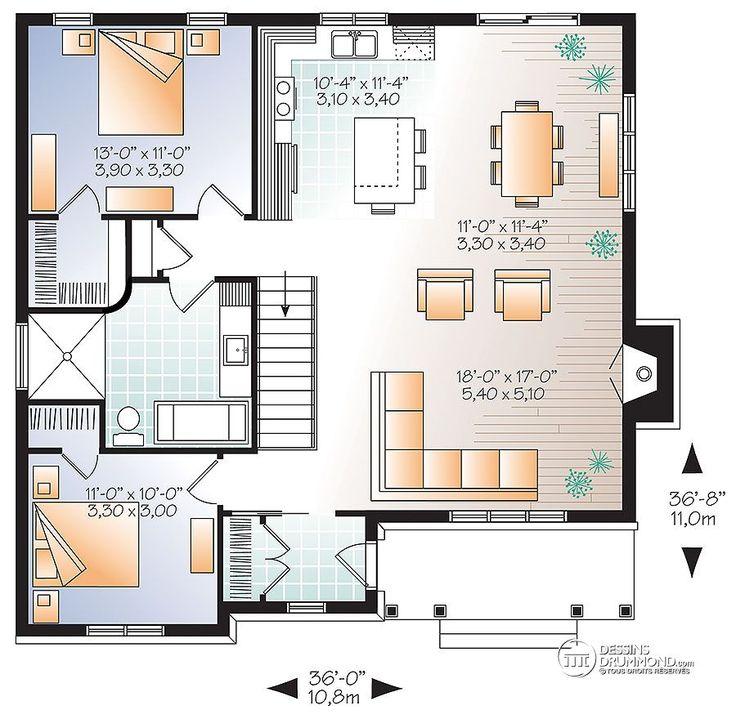 Détail du plan de Maison unifamiliale W3147-V2