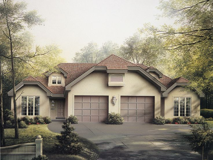 24 best duplex single story ranch homes images by richard for Single storey duplex