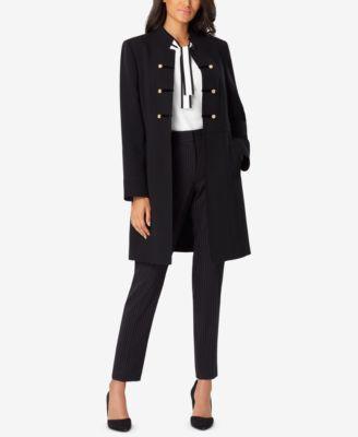 807e4e3e7a5a Stand-Collar Button-Trim Topper Jacket | macys.com | L.A. Much Ado ...