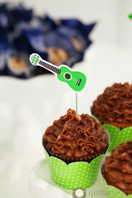 Festa Instrumentos Musicais Detalhe Cupcake                                                                                                                                                                                 Mais