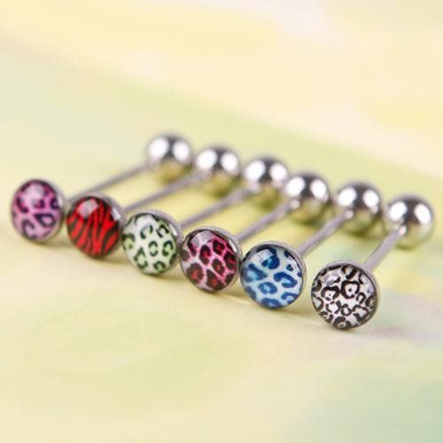 6Pcs Mixed Color Leopard Print Tongue Lip Ring Bar Stud Body Piercing Jewelry Random Colors KeyZone http://www.amazon.com/dp/B00NV5QGKO/ref=cm_sw_r_pi_dp_MN7iwb19DY6XX