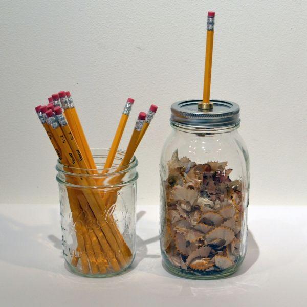 Mason jar pencil sharpener