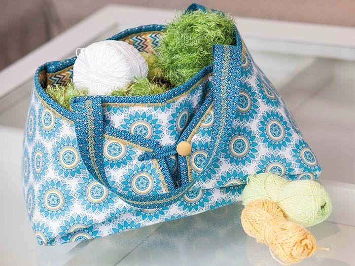 """Mit dem Multi-Bag Set """"Do it yourself"""" ist es ganz leicht, sich eine moderne und funktionale Tasche im eigenen Design zu nähen. Einfach Stoffe besorgen und loslegen: Im Handumdrehen hast Du Deine Lieblingssachen immer dabei!"""