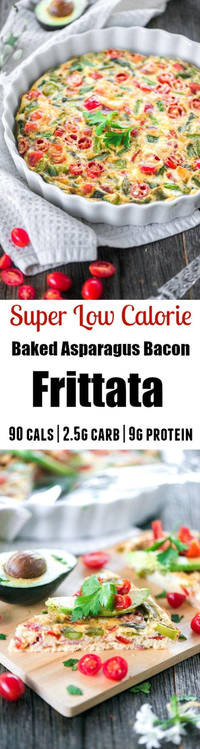 Low-Carb Baked Asparagus Bacon Frittata - Apple of My Eye