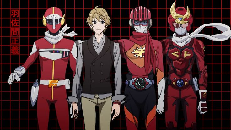 Samurai Flamenco ~~ Hazama Masayoshi and some of his outfits. Clearly, he has a narrow color range.