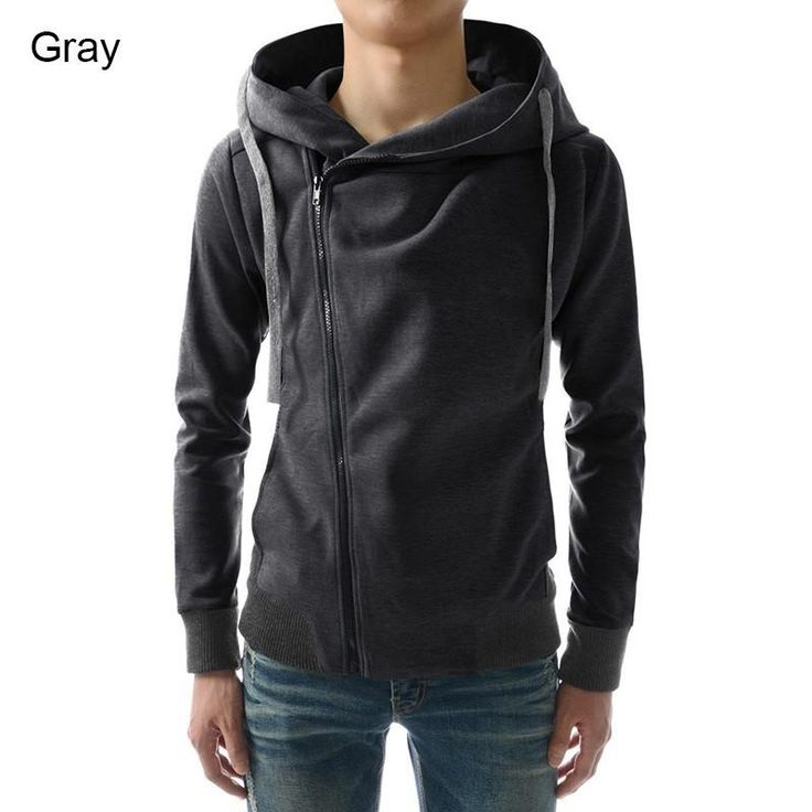New 2016 Fashion Men Hoodies Casual Oblique Zipper Brand Hoodie Mens Hooded Jackets Men Sweatshirt
