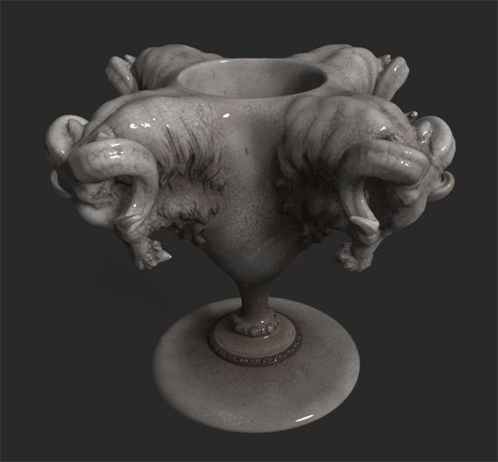 Ram Cup. An exercise in structure and tesselation.