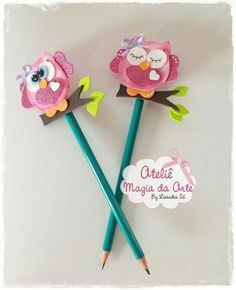 Pencil toppers with foami
