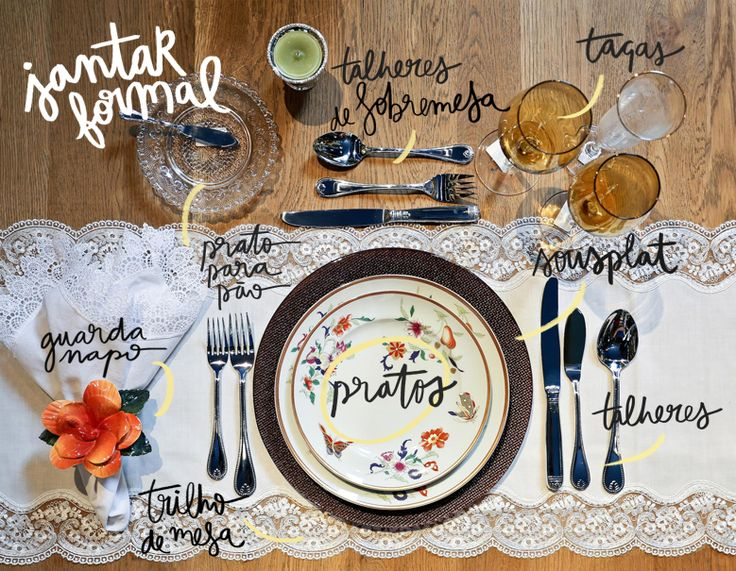 Blog OMG I'm Engaged - Como montar uma Mesa de Jantar formal.
