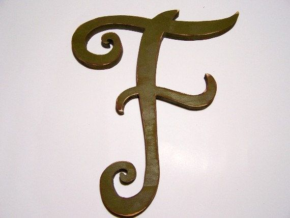 Large wooden letter F 13 inches tall home decor by OldWoodTrader, $30.00. Just ordered this in teal!