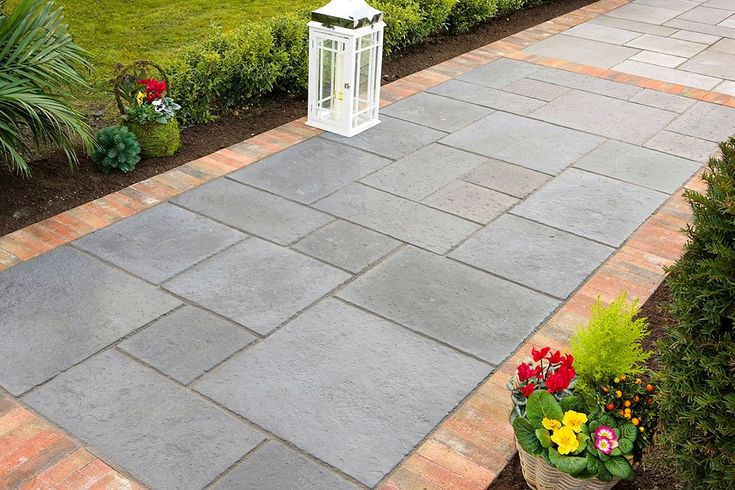 Garden Flooring Ideas Cheap Tile Laying Patterns Style And