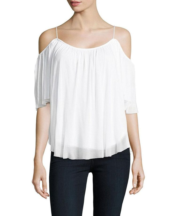553f3b608d1 Women s White Cold Shoulder Top