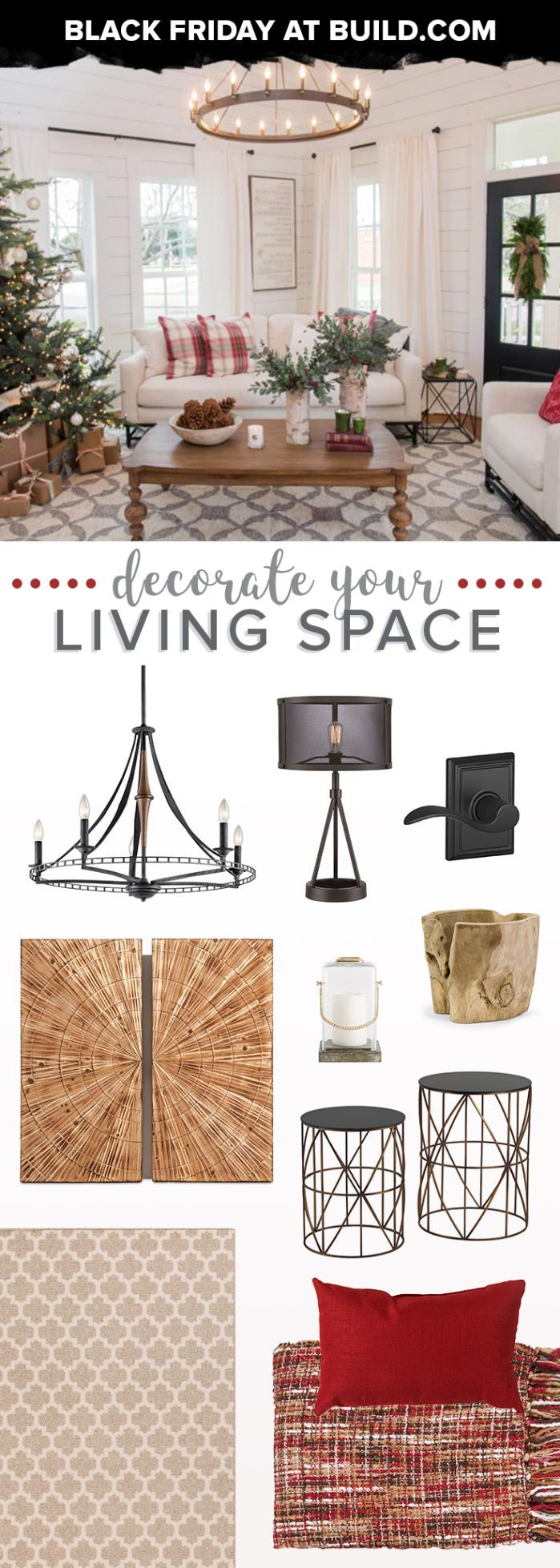 Decorate your living space before the holidays. Save up to 80% at Build.com now through 12.4.17
