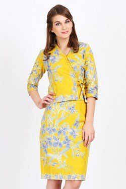 BATIKFLO Ivy Set Dress Encim kuning