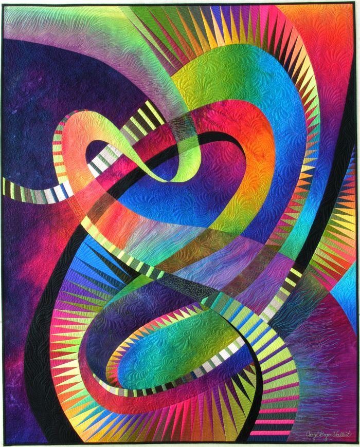 Quilt - Midnight Fantasy #6 © 2003 Caryl Bryer Fallert