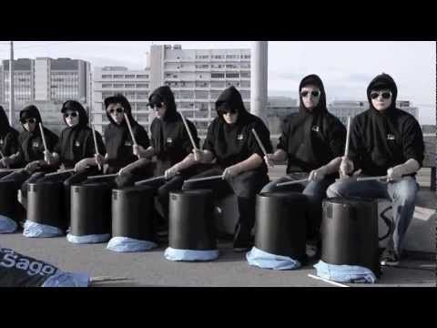 ▶ stickStoff - Bucket drum - 2012 - YouTube Love the humour as well as the structure and location...awesome!