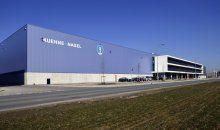 Mooie foto van het logistiek centrum welke Hercuton in opdracht van WDP Nederland voor Kuehne + Nagel op Schiphol Logistics Park (SLP) in Haarlemmermeer gerealiseerd heeft.