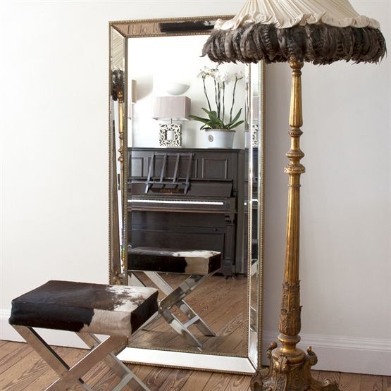 Image of Beaded Gold Mirror