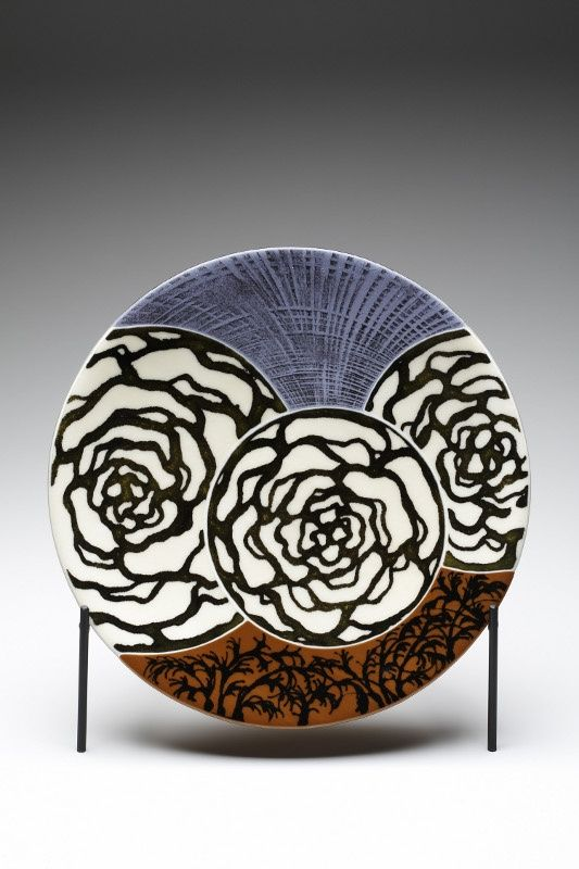 25 unique painted ceramic plates ideas on pinterest for Ceramic mural artists