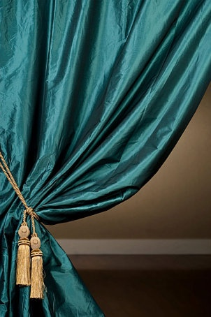 i love the color of these curtains and they are from an article on hanging curtains - Hanging Drapery