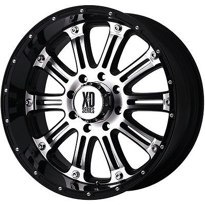 18 Inch Wheel Rims Silver Black Jeep Wrangler JK XD Series XD795 5x5 SET OF FOUR
