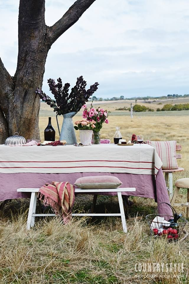 Country Style Magazine. Why not plan a country picnic to make the most of this mild autumn weather? Photography Alicia Taylor Styling Tessa Kavanagh #countrystylemag #picnic #outdoorentertaining