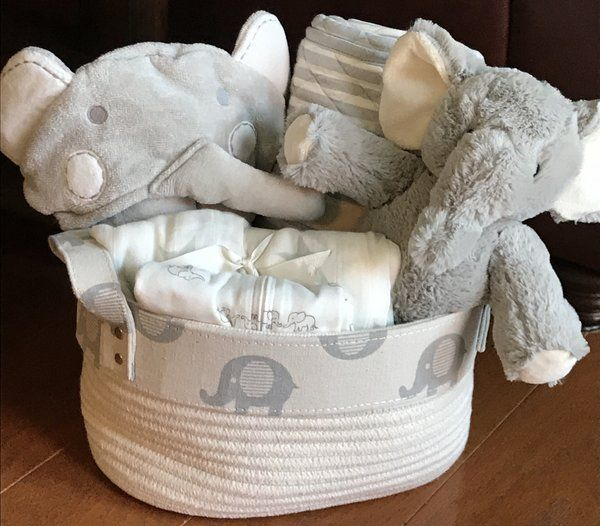 108 best baby gift baskets by fivebrownmonkies images on pinterest stuffed elephant elephant baby boy baby showers baby shower gifts baby gifts baby gift baskets parent gifts diaper cakes baby gear negle Images