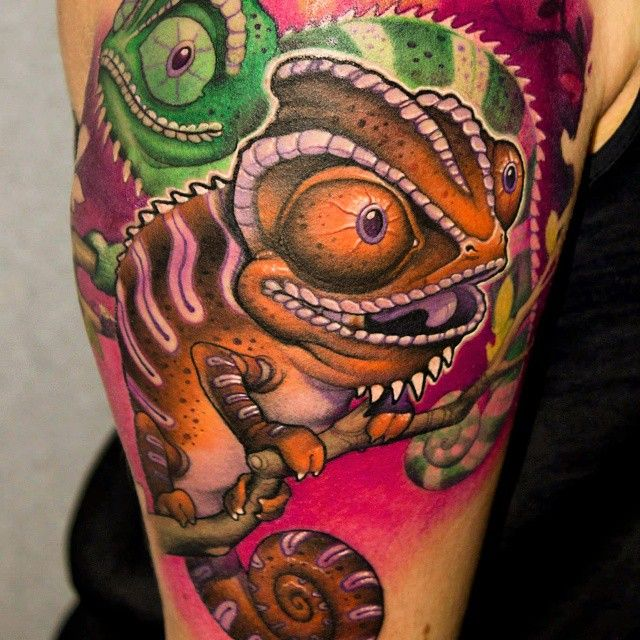 60 Colorful Chameleon Tattoo Ideas: 25+ Best Ideas About Chameleon Tattoo On Pinterest