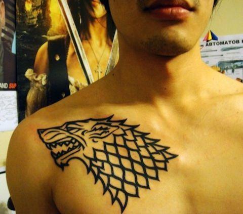 tatouages game of thrones loup maison stark Tatouages Game of Thrones tatoue tatouage photo le trône de fer image GOT game of thrones