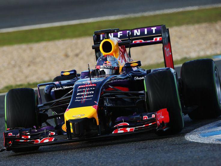 Sebastian Vettel in the 2014 Red Bull F1 car