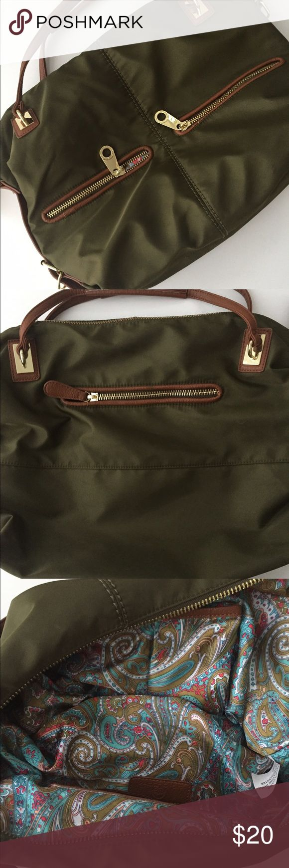 Big Buddha Olive Bag This bag has so many pockets and a beautiful Paisley lining. Barely used great condition! Big Buddha Bags