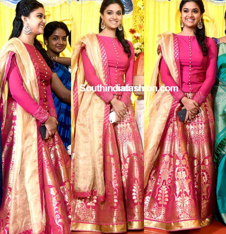 keerthy_suresh_lehenga_her_sister_wedding_reception.jpg 744×768 pixels