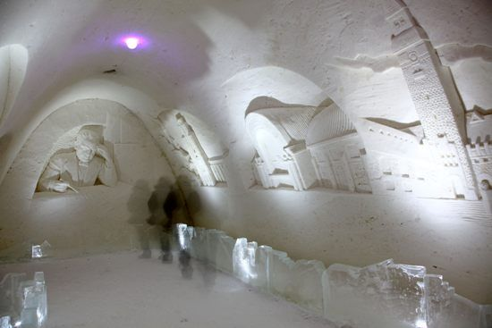 Cool steps inside Kemi Snow Castle - thisisFINLAND: Gallery: Photo
