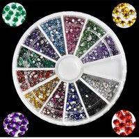 Wish | 2000 x 1.5mm 12colors Round Nail Art Rhinestones Decoration Glitters Nail Tips E Z_G