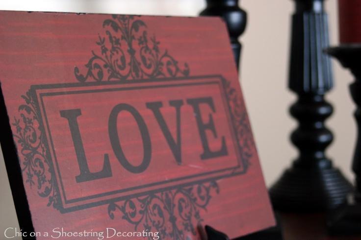 "Red ""LOVE"" sign. So cute!: Valentine Crafts, Beautiful Valentines, Valentines Ideas, Holiday Signs, Valentines Day, Crafts Decor, Craft Ideas, Valentine S, Silouette Crafts"