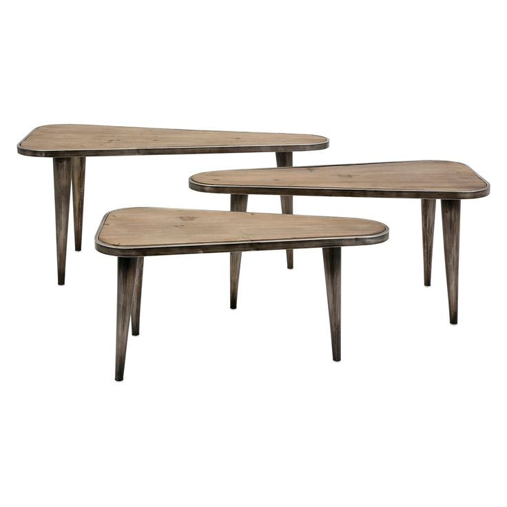 Imax Oliver Wood and Metal End Tables - Set of 3 - 85481-3