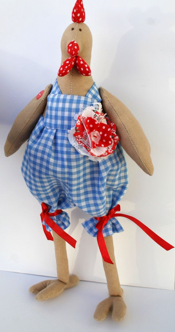 Handmade Tilda Chicken  Interior Doll  Dandy stylish by TweeteeNZ, $40.00