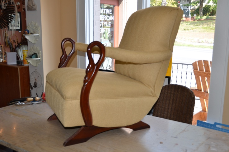 Furniture Upholstery: Very comfy gooseneck rocker.  Furniture Work ...