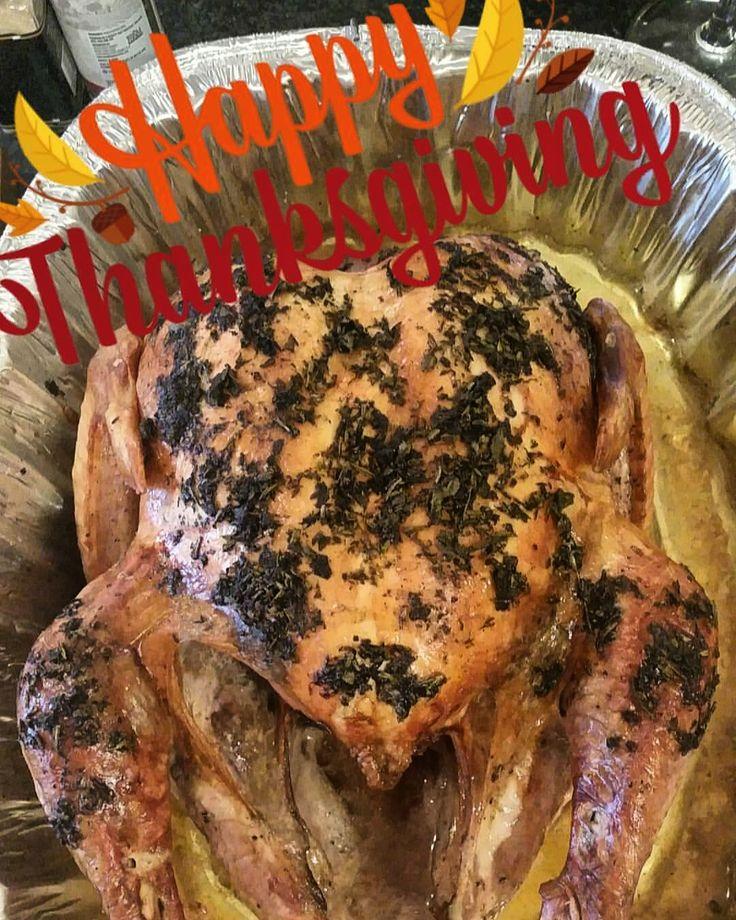 Roasted Organic Turkey w/ Herb Butter Rub.