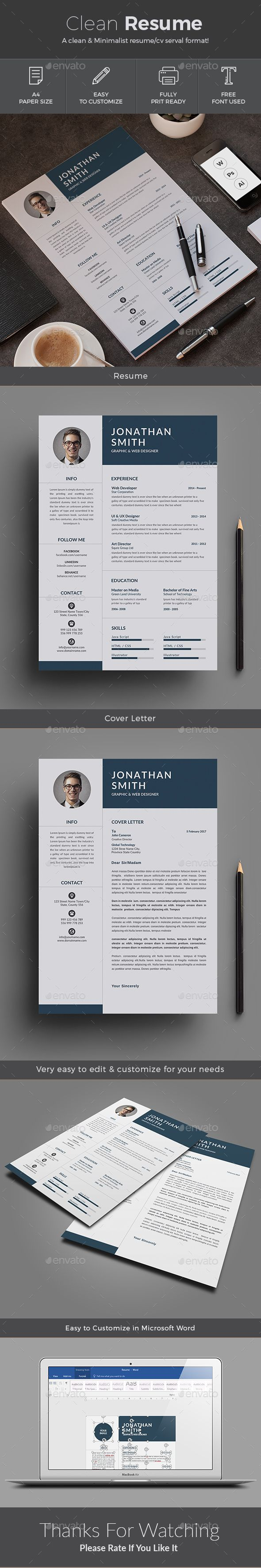 1000 ideas about easy resume template resume resume resumes stationery resume cv word template is a minimal bold