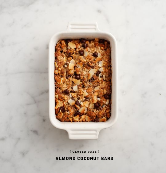 gluten-free almond coconut bars