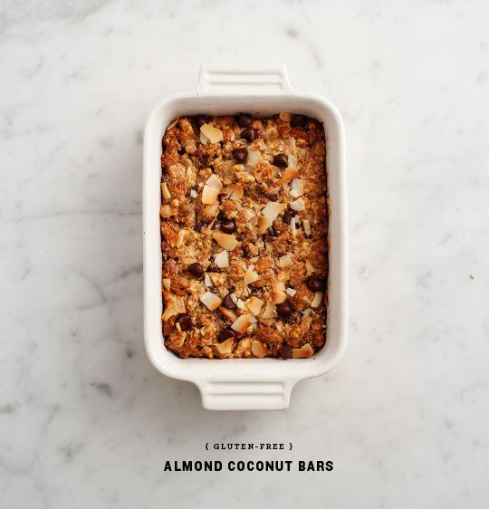 gluten-free almond coconut bars recipe